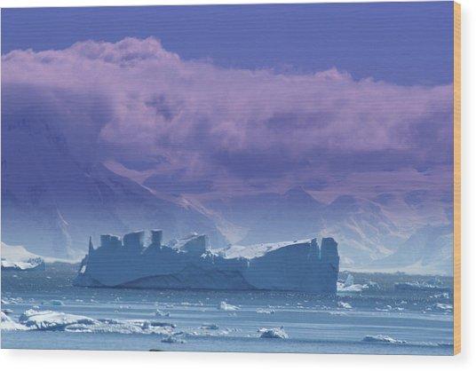 Iceberg Shipwreck Wood Print by DerekTXFactor Creative