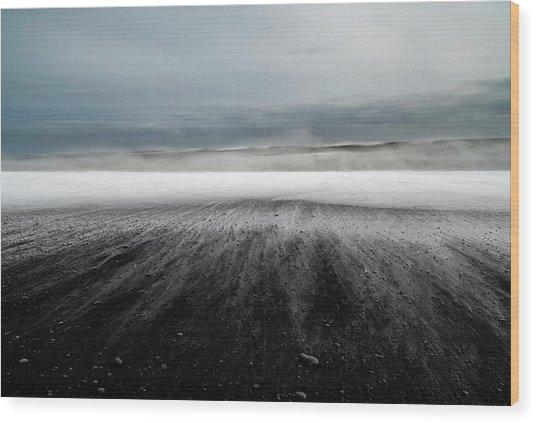 Iceland Vik Wood Print by Ronny Olsson