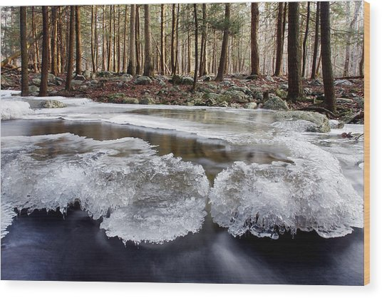 Icescape Wood Print