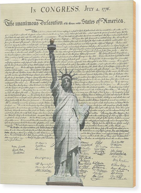 Icon Of Freedom Wood Print