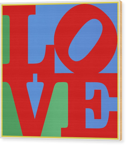 Iconic Love Wood Print