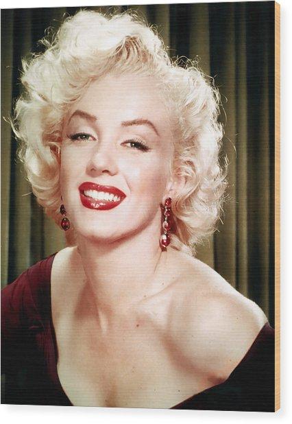 Iconic Marilyn Monroe Wood Print