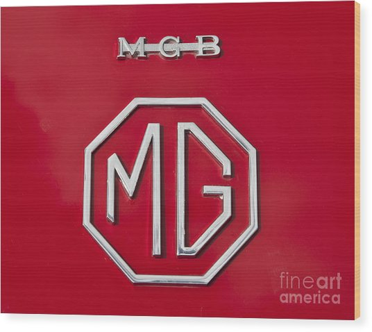 Iconic Mgb Badge Wood Print