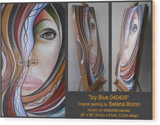 Icy Blue 040409 Comp Wood Print