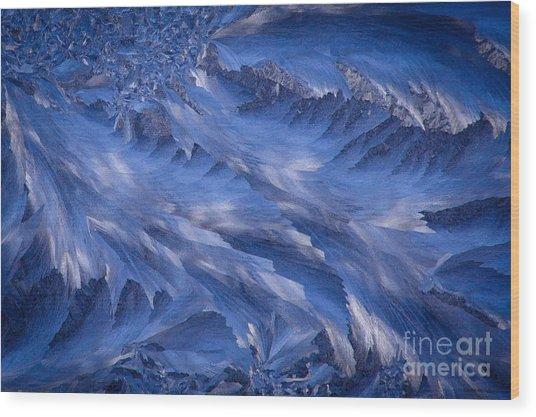 Icy Rush Wood Print