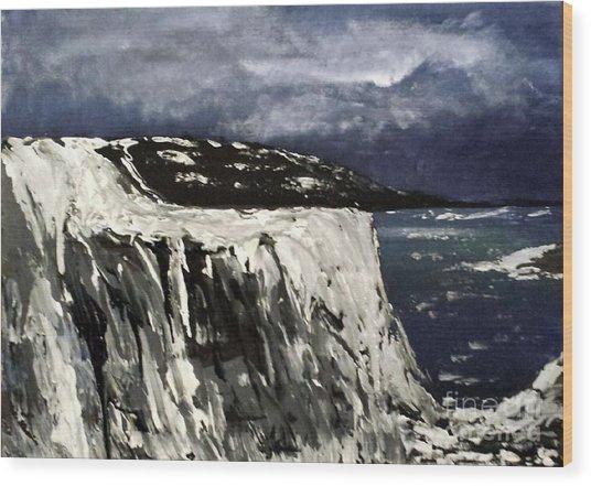 Icy Slope Wood Print