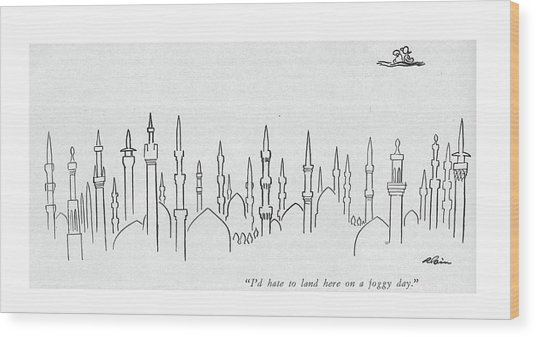 I'd Hate To Land Here On A Foggy Day Wood Print