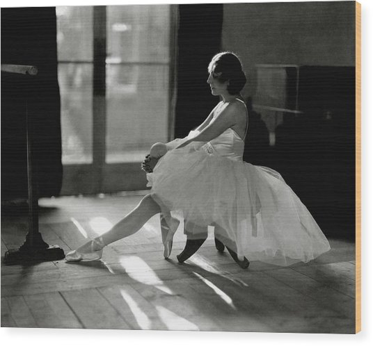 Ida Rubinstein Wearing A Tutu Wood Print by Phyllis Abbe