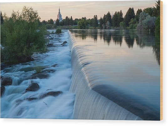 Idaho Falls Sunset Wood Print