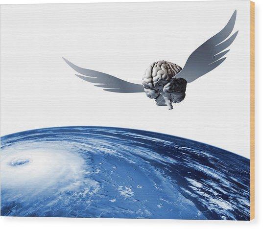 Idea Taking Flight Wood Print