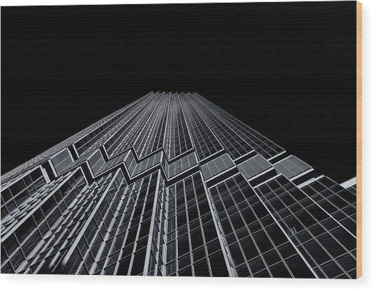 Ids Tower Minneapolis  Mono Wood Print