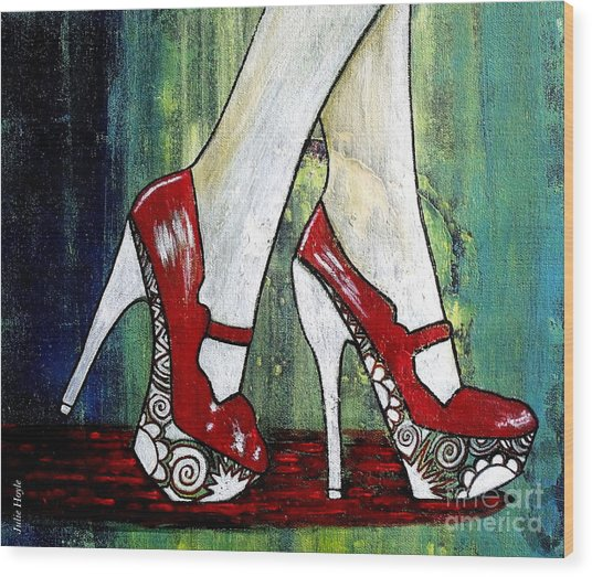 If You Walked In My Shoes Wood Print