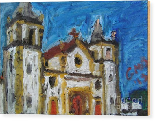Igreja Da Se De Olinda Wood Print by Greg Mason Burns