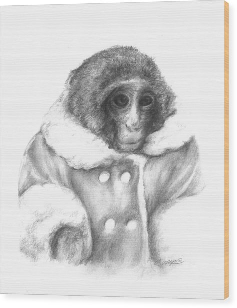 Ikea Monkey  Wood Print