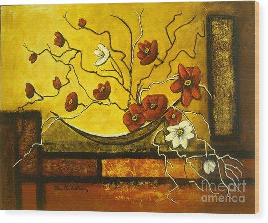 Ikebana II Wood Print