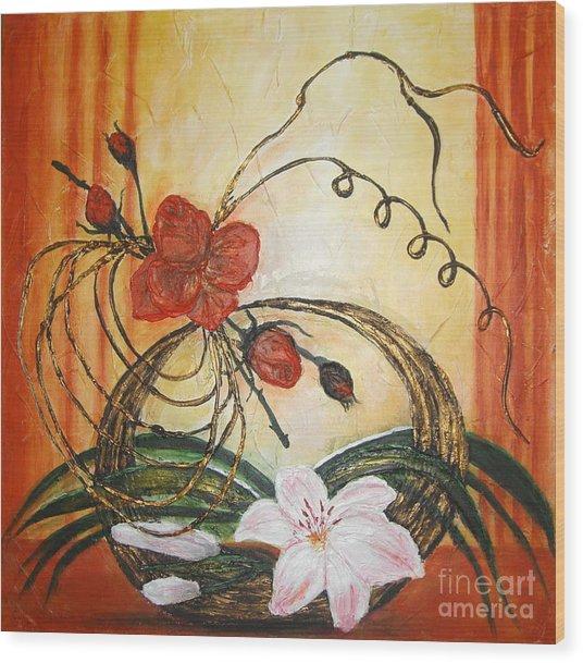 Ikebana IIi Wood Print