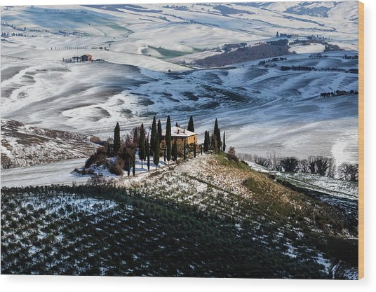 Il Belvedere Wood Print by Massimo Della Latta