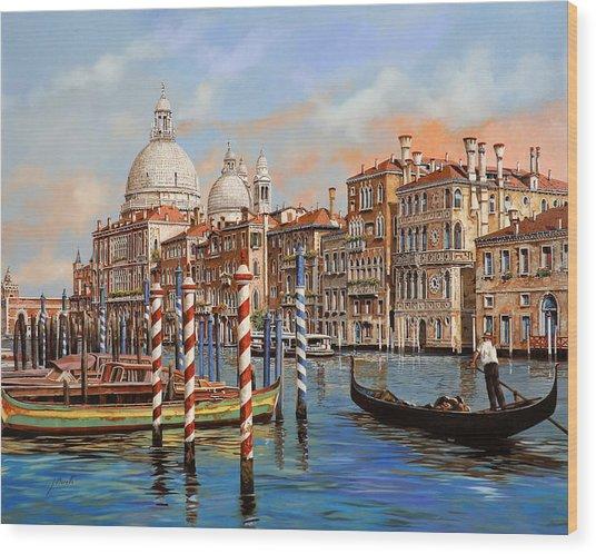 Il Canal Grande Wood Print