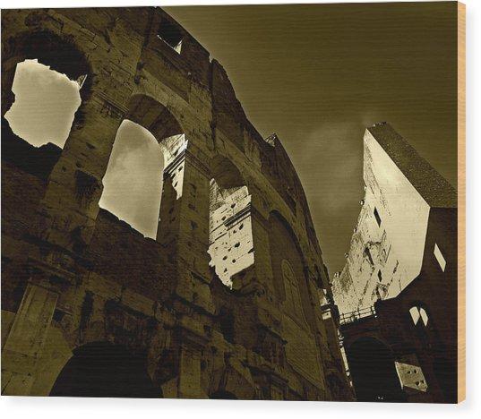 Il Colosseo Wood Print