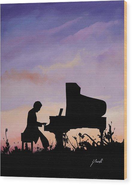 Il Pianista Wood Print