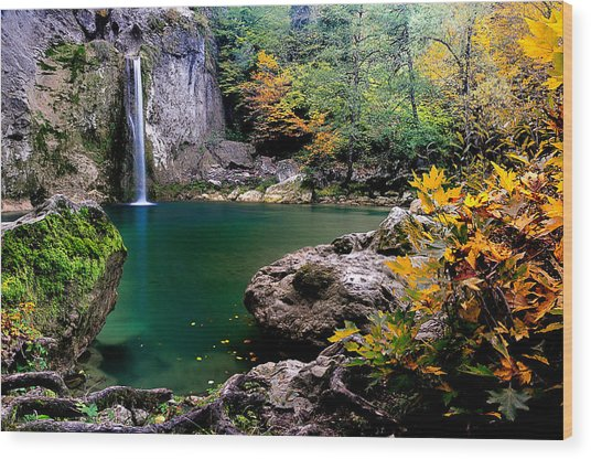 Ilica Waterfall - 2 Wood Print