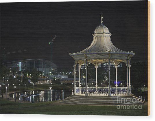 Illuminated Elegance Wood Print