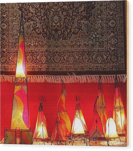 Illuminated Lights Wood Print
