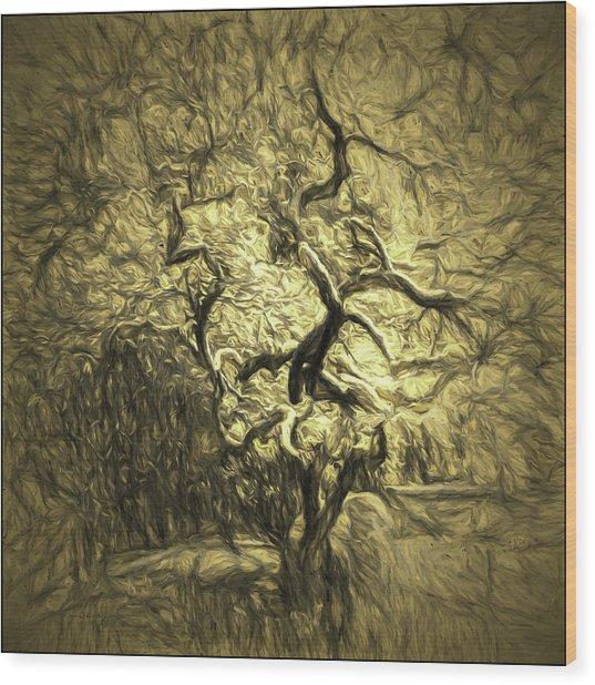 Illusion Tree Wood Print