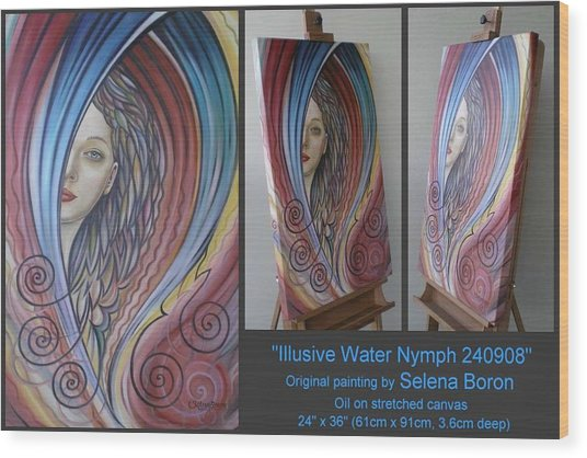 Illusive Water Nymph 240908 Wood Print