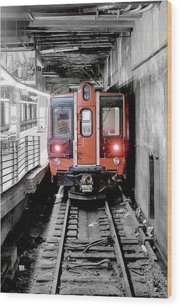 I'm Leaving On A Train Wood Print