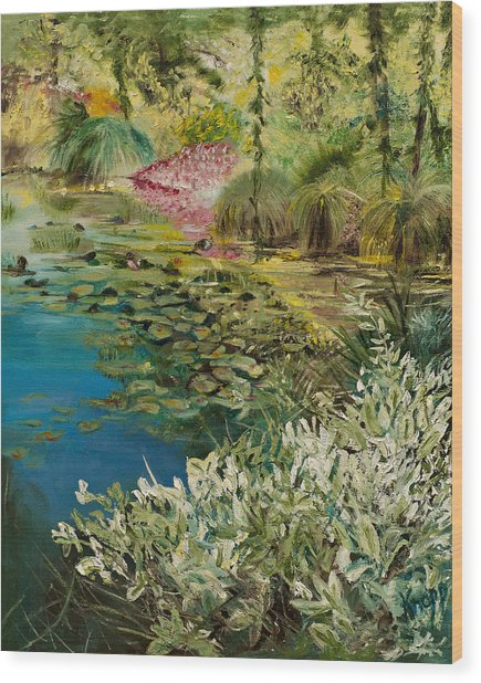 Image At Giverney Wood Print