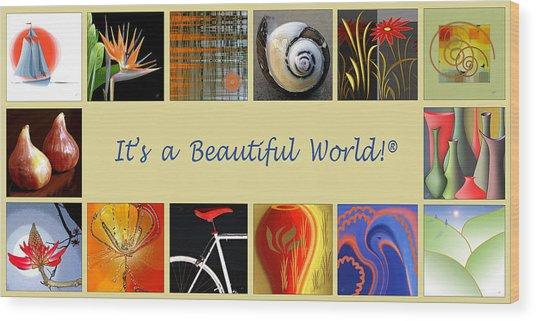 Image Mosaic - Promotional Collage Wood Print