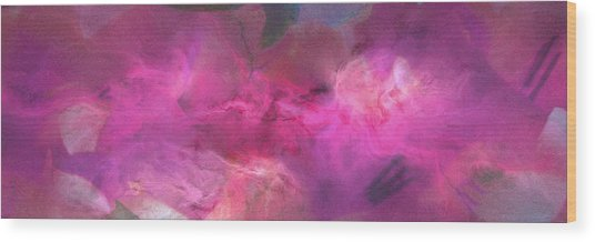 Imagination In Ruby Fire - Abstract Art Wood Print