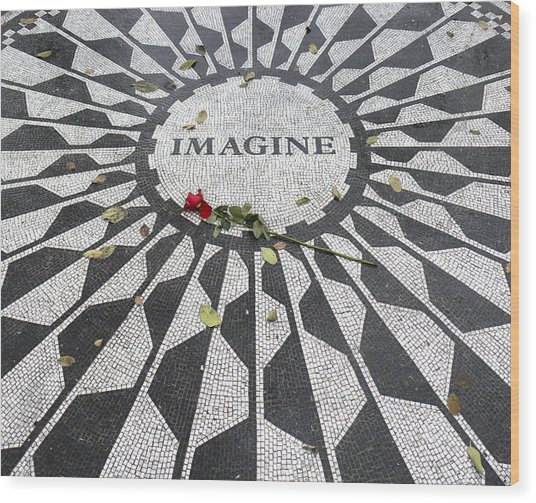 Imagine Mosaic Wood Print