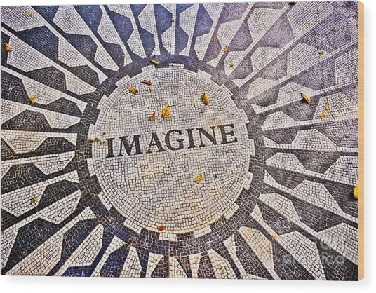 Imagine Wood Print by Stacey Granger