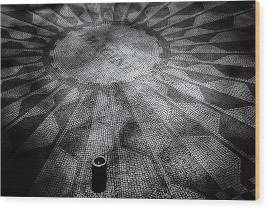 Imagine - Strawberry Fields Wood Print