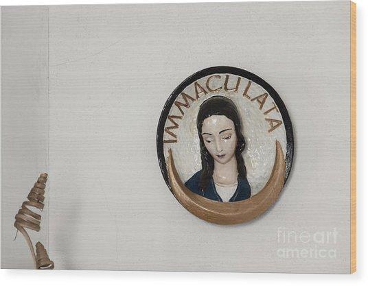 Immaculata Wood Print by Agnieszka Kubica