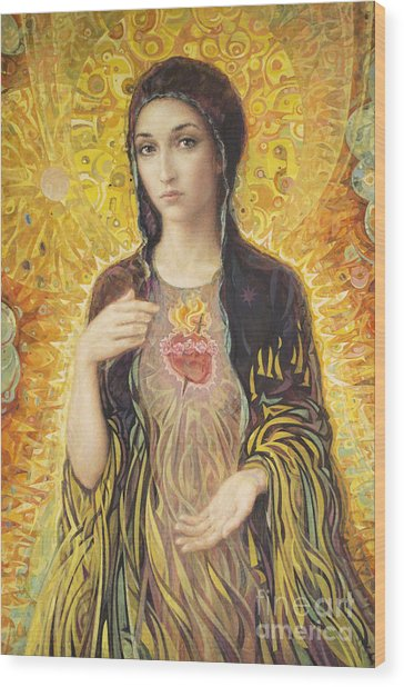 Immaculate Heart Of Mary Olmc Wood Print