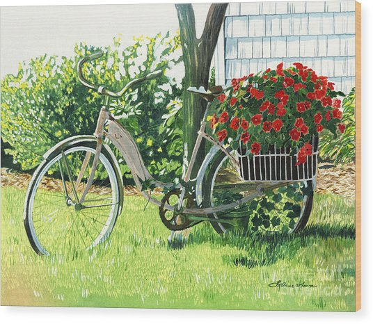 Impatiens To Ride Wood Print