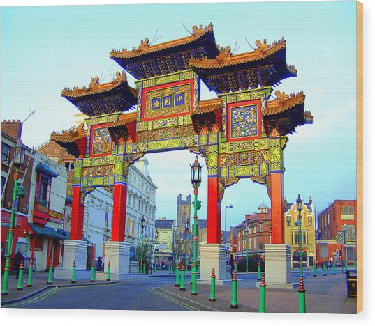Imperial Chinese Arch Liverpool Uk Wood Print