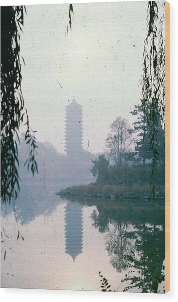 Imperial Garden In Beijing Wood Print