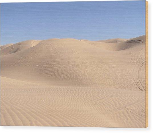 Imperial Sand Dunes Wood Print