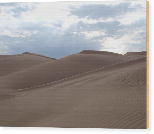 Imperial Sand Dunes Southern California Wood Print