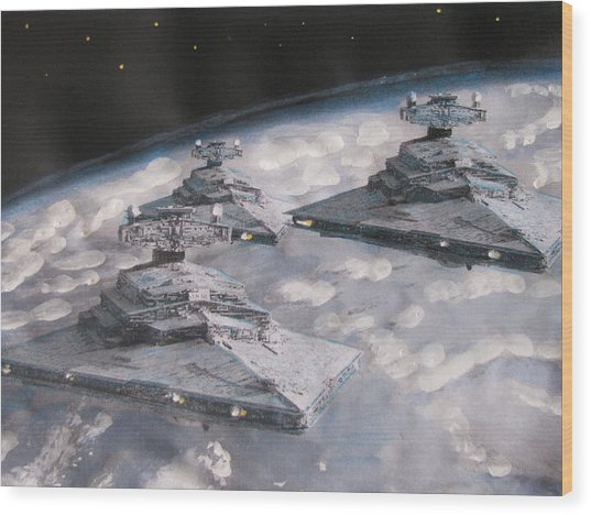 Imperial Star Ship Destroyers Wood Print