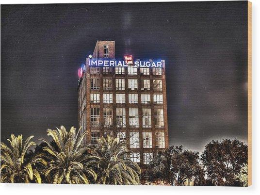 Imperial Sugar Mill Wood Print