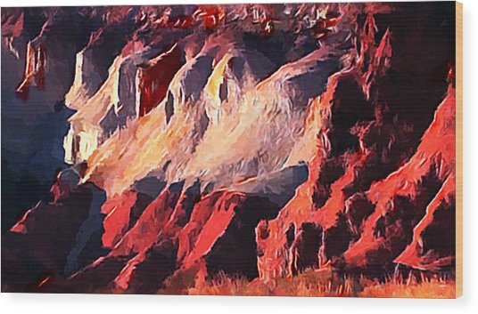 Impression Of Capitol Reef Utah At Sunset Wood Print