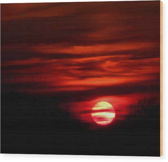 Impression Sunset Wood Print