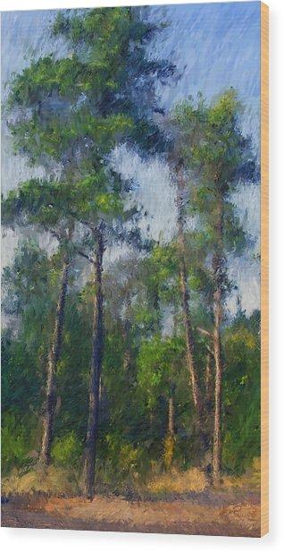 Impression Trees Wood Print