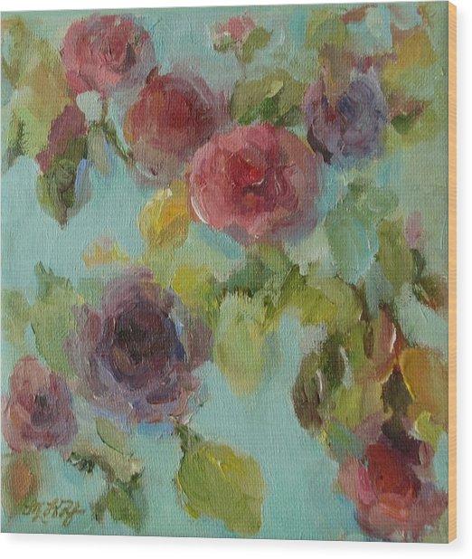 Impressionist Floral  Wood Print