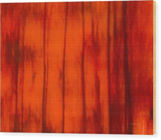 Impressionistic Autumn 4 Wood Print by Leland D Howard